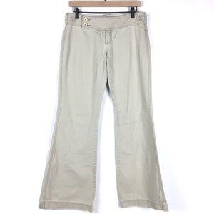 Abercrombie & Fitch Women Pants 4 Wide Flare Khaki